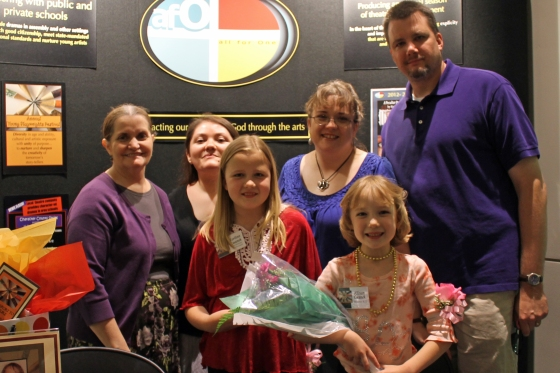 Allison Cwanek, Winner Division Grades K-2, and family