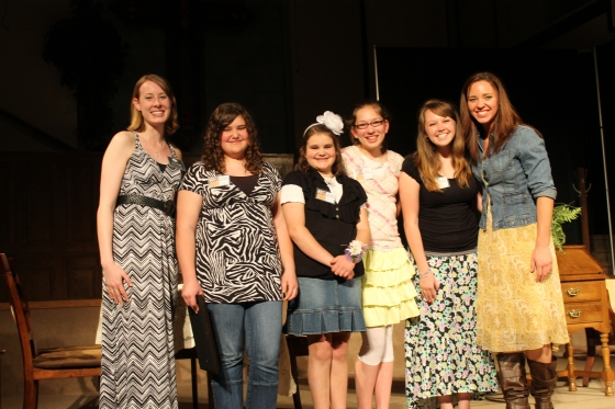 Winners Grades 6-12 Division Kayla Reed, Director; Brianna Bertsch, Honorable Mention 6-9; Abby Bertsch, Runner Up, 6-9; Bria Warren, Winner 6-9; Danae Delanoy, Winner 10-12; Megan Powers, Director